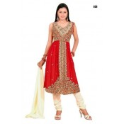 Salwar dishita rouge